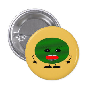 Angry Watermelon 3 Cm Round Badge
