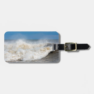 Angry wave photograph luggage tag