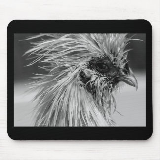 Angry Wet Silkie Chicken Mouse Mat