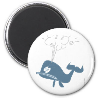 ANGRY WHALE 6 CM ROUND MAGNET