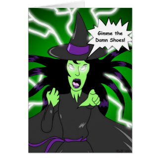 Angry Witch: Birthday Card