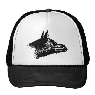 Angry Wolf Drawing Cap