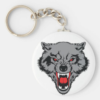 Angry Wolf Key Ring