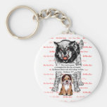 Angry Wolf Puppy - Do Not Fear - #2 Fear Red.png Key Chains