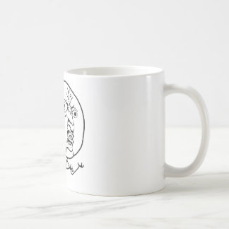 Angry Y U No face Coffee Mug