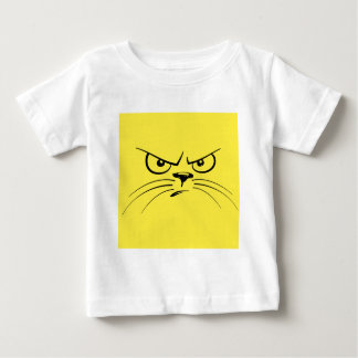 Angry Yellow Kitty Face Baby T-Shirt