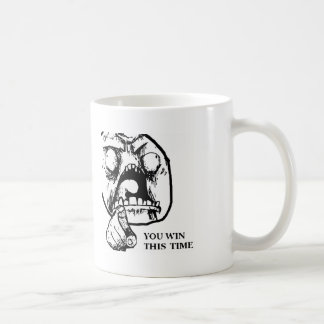 Angry You Win This Time Face Basic White Mug