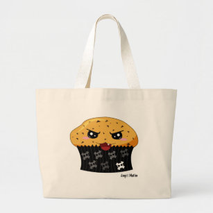 347c644a60f4 Angst Muffin Large Tote Bag