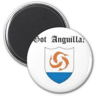Anguilla, Caribbean T-Shirt And Etc 6 Cm Round Magnet