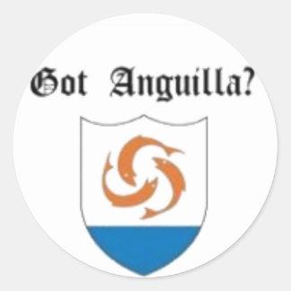 Anguilla, Caribbean T-Shirt And Etc Round Sticker
