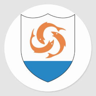 Anguilla Coat of arm  AI Classic Round Sticker