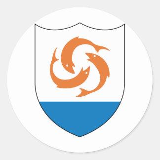 Anguilla Coat of arm  AI Round Sticker