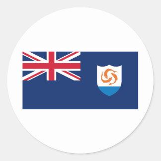 Anguilla Flag AI Classic Round Sticker