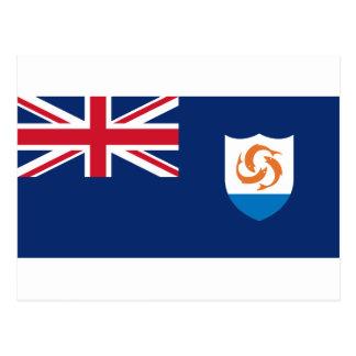 Anguilla Flag AI Postcard