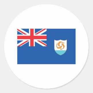 Anguilla Flag Round Sticker