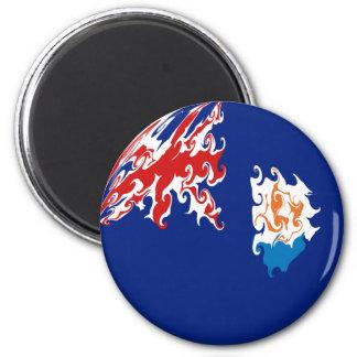 Anguilla Gnarly Flag 6 Cm Round Magnet