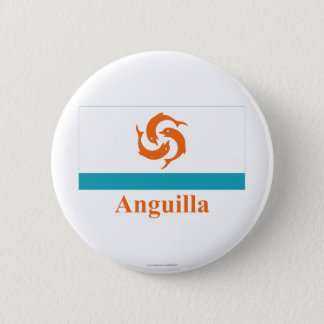 Anguilla Local Flag with Name 6 Cm Round Badge