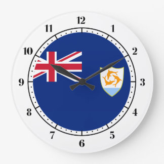 Anguillian flag large clock