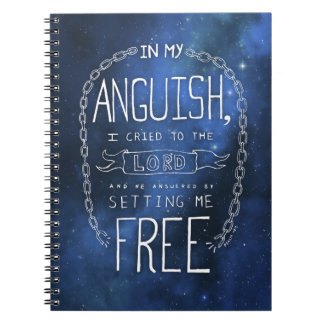 Anguish Quote Mousepad Spiral Note Book