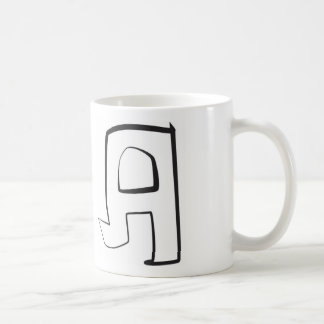 "angular bubble graffiti letter ""A"" coffee cup Basic White Mug"