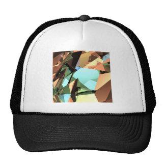 Angular Collage Mesh Hats