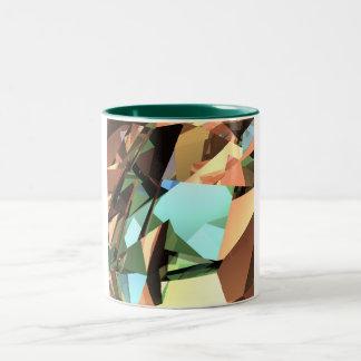 Angular Collage Two-Tone Mug