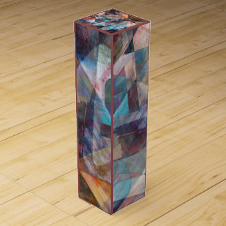Angular Complexity Digital Art Gift Wine Box