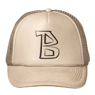 "Angular graffiti bubble capital letter ""B"" hat"