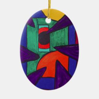 Angular Perception Christmas Ornament