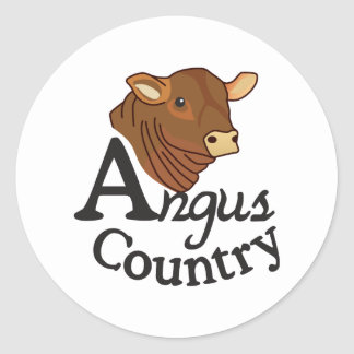 Angus Country Classic Round Sticker