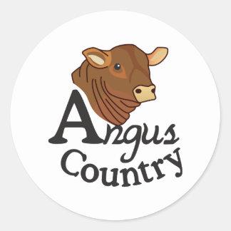 Angus Country Round Sticker