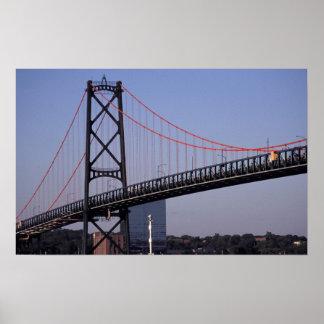 Angus L Macdonald Bridge, Halifax, Nova 2 Poster