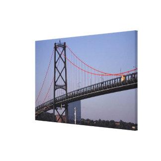 Angus L Macdonald Bridge, Halifax, Nova Canvas Print