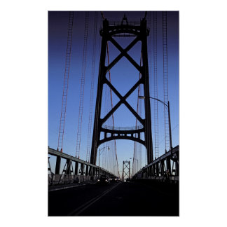 Angus L Macdonald Bridge, Halifax, Nova Poster