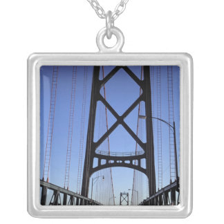 Angus L Macdonald Bridge, Halifax, Nova Silver Plated Necklace