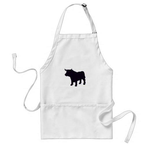 Angus the bull apron