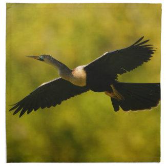 anhinga in flight cloth napkins