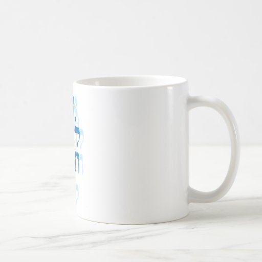 Ani Le'dodi Ve'Dodi Li Blue Classic White Coffee Mug