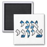 Ani Tzioni = I am a Zionist Square Magnet