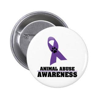 Animal Abuse Awareness 6 Cm Round Badge