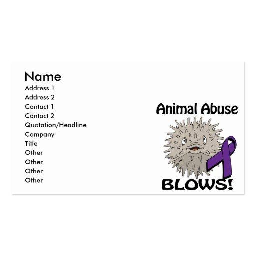 Animal Abuse Blows Awareness Design Business Cards