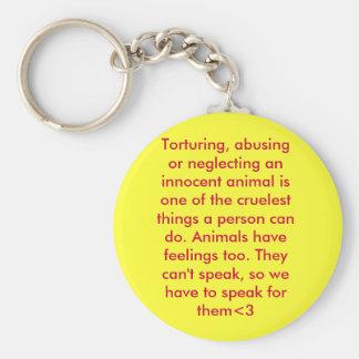 animal abuse key ring