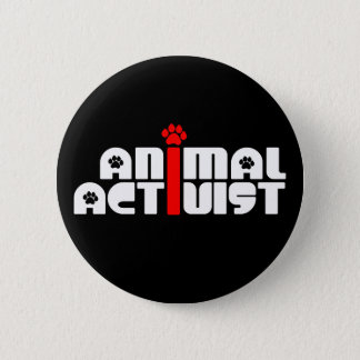 Animal Activist 6 Cm Round Badge
