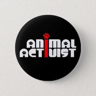 Animal Activist 6 Cm Round Badge