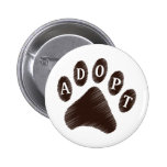 Animal Adoption 6 Cm Round Badge