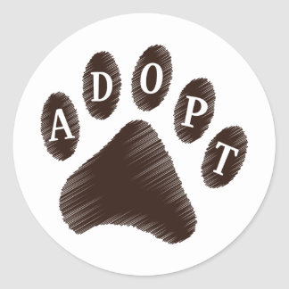 Animal Adoption Classic Round Sticker