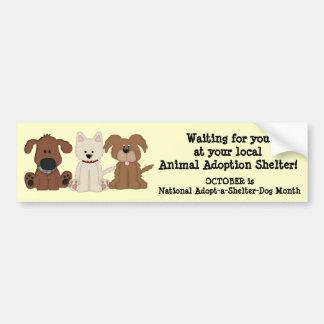 Animal Adoption-Rescue/Shelter Dogs Bumper Sticker