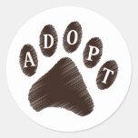 Animal Adoption Round Sticker