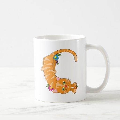 Animal Alphabet Cat Coffee Mugs