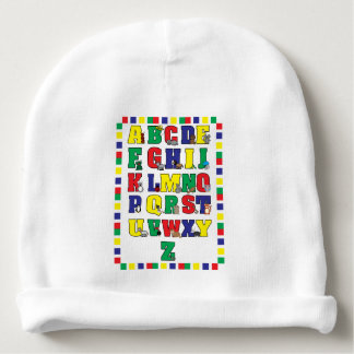 Animal Alphabet Educational Baby Beanie